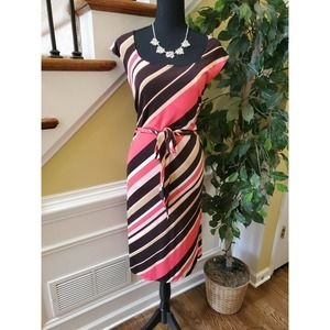 Merona Dress Striped - XL- Necklace Set Included